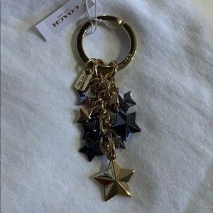 Coach stars keychain F63987